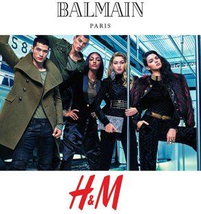 Balmain Paris Events Συνεργασία με H&M Web